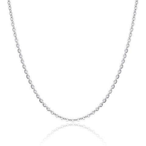 Elegant Silver Link Chain Necklace For Women