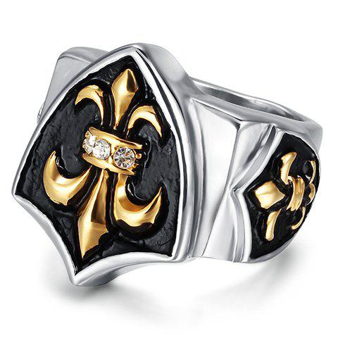 Vintage Alloy Rhinestone Ring For Men - WHITE ONE-SIZE