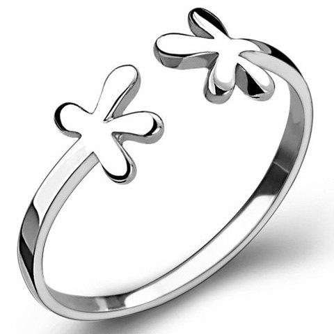 Floral Opening Ring - SILVER