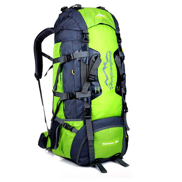 High Quality Multifunctional Waterproof Outdoor Travel Hiking Suspended Back Frame Climbing Bag - LIGHT GREEN