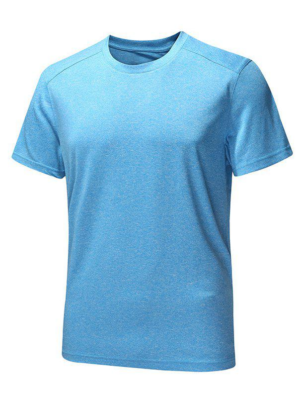 Quick-Dry Solid Color Round Neck Short Sleeve Men's T-Shirt round neck quick dry solid color short sleeve men s t shirt