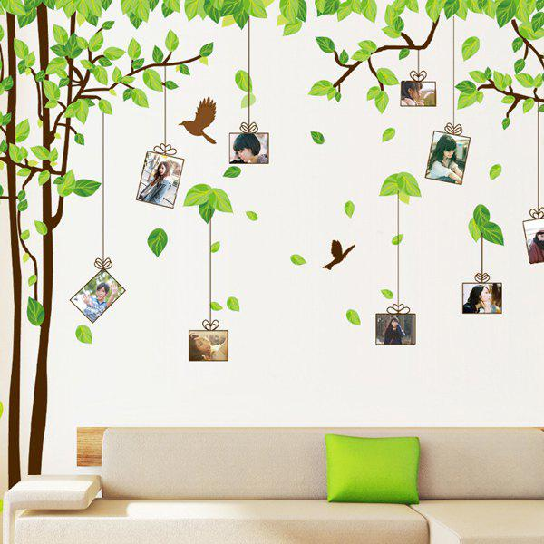 Chic Tree Memory Pattern Photo Wall Sticker For Bedroom Livingroom Decoration - COLORMIX
