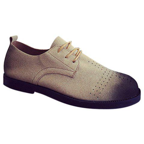 Trendy Suede and Breathable Design Men's Casual Shoes - BROWN 42