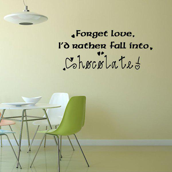 Chic English Letters Pattern Wall Sticker For Bedroom Livingroom Decoration - BLACK