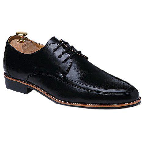 Fashionable Engraving and Solid Colour Design Men's Formal Shoes - BLACK 43