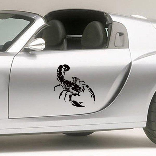 Fashion Black Scorpion Pattern Wall Sticker For Car Vehicle Decoration - BLACK