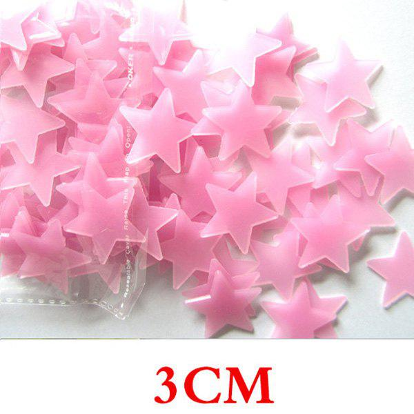 Image of 100PCS Fashion Luminous Shinning Star Pattern 3D Wall Sticker For Bedroom Ceiling Decoration