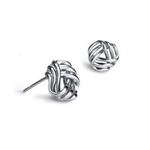 Pair of Charming Solid Color Hollow Out Earrings For Women