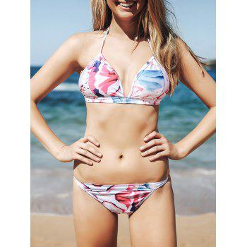 Sexy Colorful Floral Printed Bikini Suit For Women