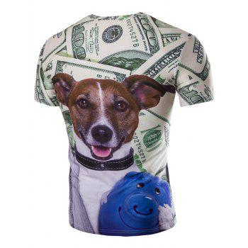s 'Casual Dog Printed Men  manches courtes T-shirt - multicolorcolore M