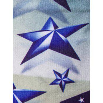 Casual Stars Printed Men's Short Sleeves T-Shirt - COLORMIX M