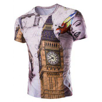 Casual Big Ben Printed Men's Short Sleeves T-Shirt
