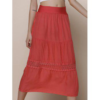Stylish A-Line Spliced Solid Color Women's Beach Skirt