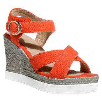 Fashion Cross Strap and Cloth Design Women's Sandals