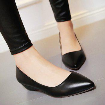Slip On Flat Point Toe Shoes - 36 36