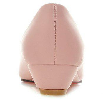 Slip On Flat Point Toe Shoes - PINK PINK