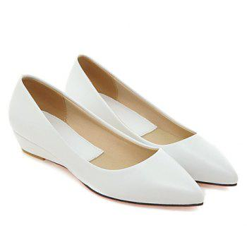 Slip On Flat Point Toe Shoes - 38 38