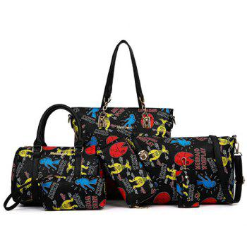 Fashion Zip and Print Design Women's Tote Bag