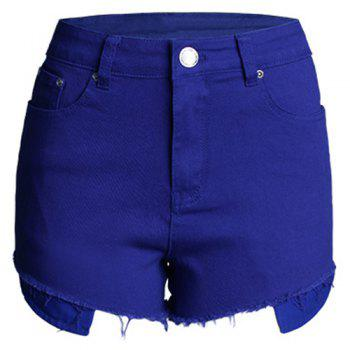 Fashionable Fringe Embellished Button Fly Women's Shorts