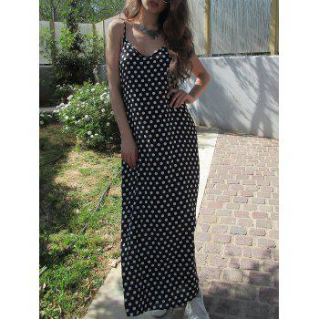 Bohemian Spaghetti Strap Polka Dot Dress