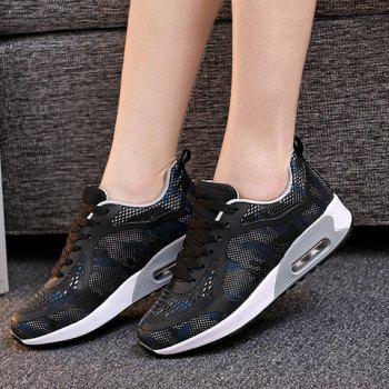 Fashionable Black and Mesh Design Women's Sneakers - BLACK 40