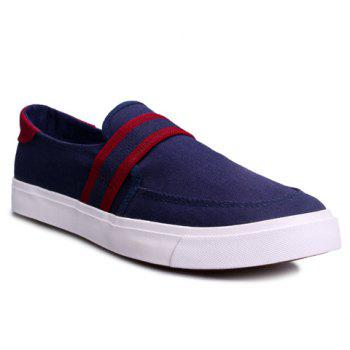 Leisure Slip-On and Stripe Design Men's Canvas Shoes