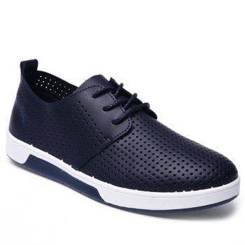 Stylish Hollow Out and Lace-Up Design Men's Casual Shoes