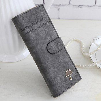 Concise Letters and Solid Color Design Women's Wallet -  GRAY