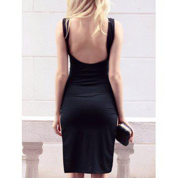 Open Back High Slit Sheath Dress