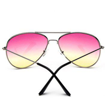 Chic Ombre Candy Color and Alloy Frame Design Women's Sunglasses -  PINK