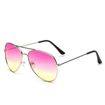 Chic Ombre Candy Color and Alloy Frame Design Women's Sunglasses - PINK PINK