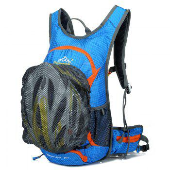 High Quality 12L Waterproof Outdoor Travel Sport Climbing Backpack Fixed Gear Cycling Bag -  LAKE BLUE