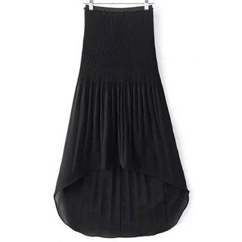 Trendy High-Low Pleated Women's Chiffon Skirt