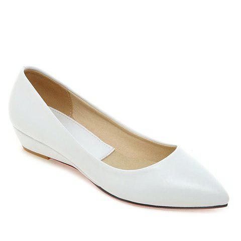 Chaussures plates Simple Slip-On et pointu design Femmes  's - Blanc 34