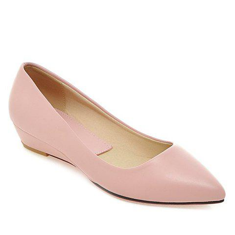 Slip On Flat Point Toe Shoes - PINK 38