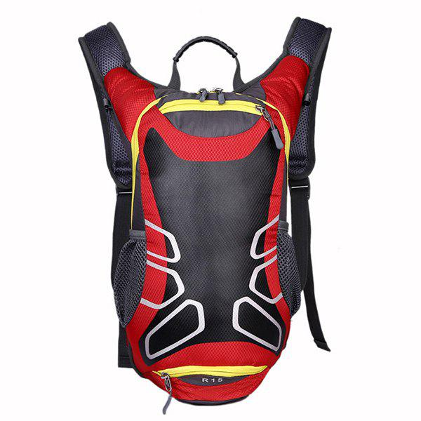 High Quality Waterproof Outdoor Travel Sport Basketball Backpack Fixed Gear Cycling Bag - RED