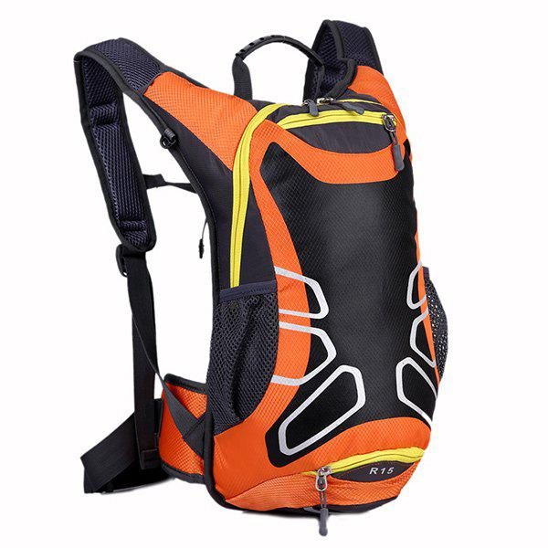 High Quality Waterproof Outdoor Travel Sport Basketball Backpack Fixed Gear Cycling Bag - ORANGEPINK