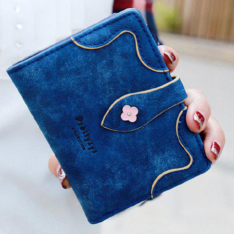 Sweet Letter and Stitching Design Women's Small Wallet - SAPPHIRE BLUE