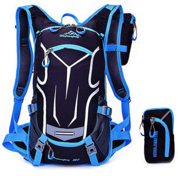 High Quality Multifunctional Waterproof Outdoor Travel Sport Backpack Fixed Gear Cycling Bag - BLUE