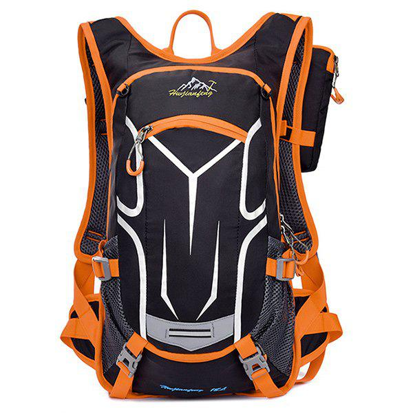 High Quality Multifunctional Waterproof Outdoor Travel Sport Backpack Fixed Gear Cycling Bag - ORANGE
