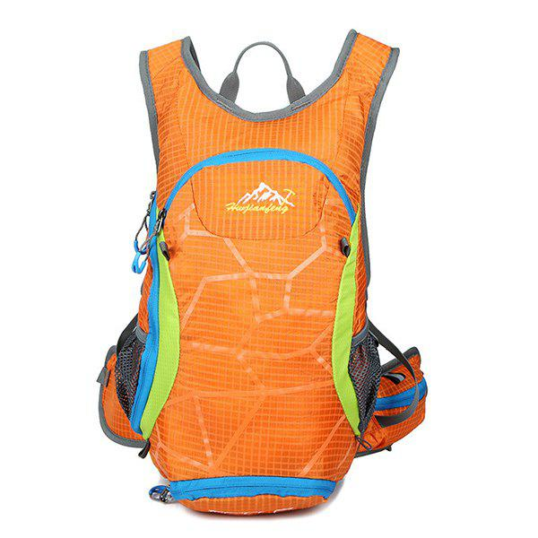 High Quality 12L Waterproof Outdoor Travel Sport Climbing Backpack Fixed Gear Cycling Bag - ORANGEPINK