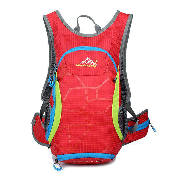 High Quality 12L Waterproof Outdoor Travel Sport Climbing Backpack Fixed Gear Cycling Bag - RED