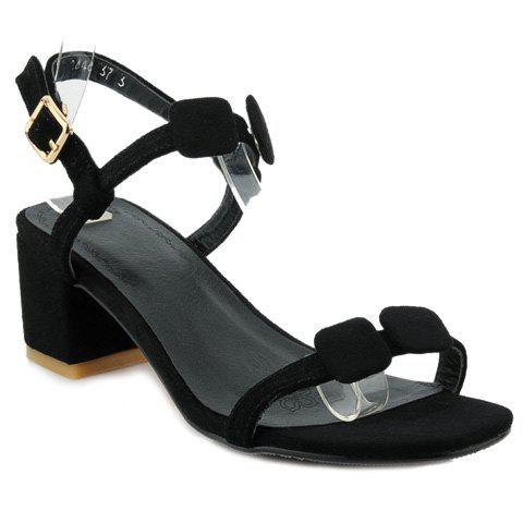 Elegant Suede and T-Strap Design Women's Sandals