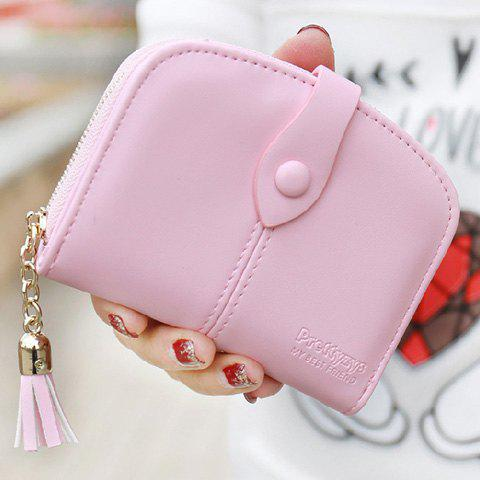 Trendy Tassel and Solid Color Design Women's Small Wallet