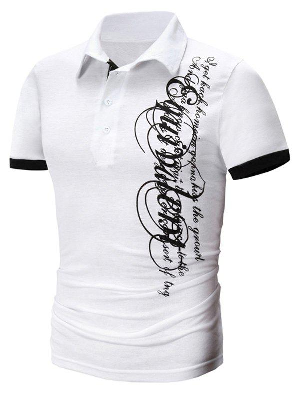 Modish Turn-Down Collar Letter Printing Short Sleeve Polo T-Shirt For Men -