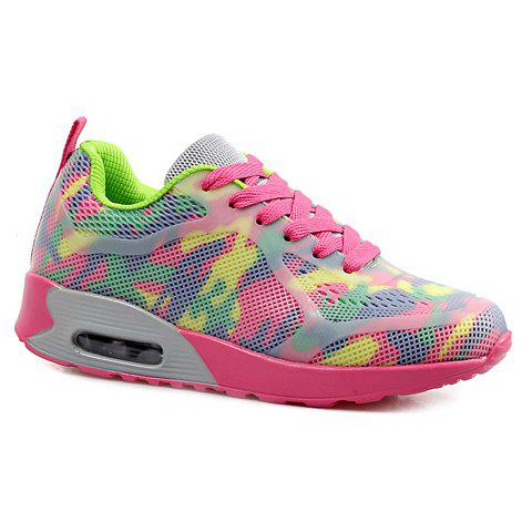 Stylish Print and Mesh Design Women's Sneakers