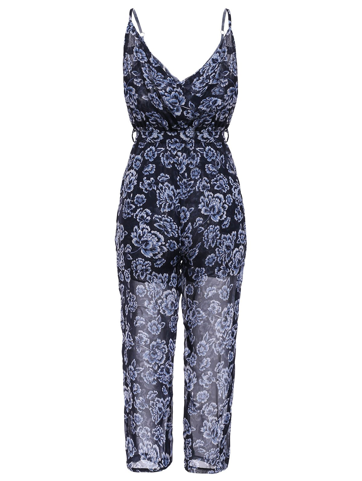Trendy Floral Print Sleeveless Jumpsuit For Women