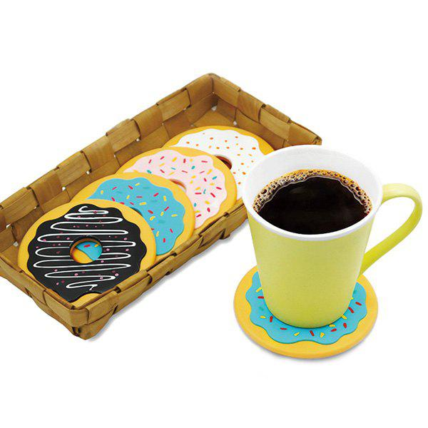 4PCS High Quality Antiskid Heat Insulation Doughnut Round Shape Silicone Cup Mat urban decay mono тени для век verve