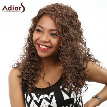 Fluffy Kinky Curly Stunning Long Capless Fashion Deep Brown Synthetic Women's Wig