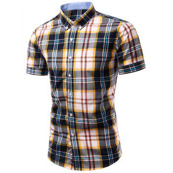 Men's Stylish Checked Printing Single Breasted Shirt